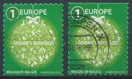 België OBP Nr: 4568 + 4568a Gestempeld / Oblitérés - Kerstzegels - Belgium