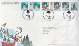 Great Britain Set And SS On 2 FDCs - Christmas