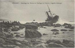D 76  FECAMP  Sauvetage Des Marins Du Naufrage Du Chalutier AUGUSTIN LEBORGNE - Fécamp