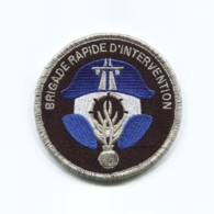 Ecusson Tissu Gendarmerie Brigade Rapide D'Intervention, Dos Velcro, Agréé DGGN - Ecussons Tissu