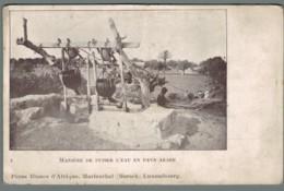 CPA Afrique - Manière De Puiser L'eau En Pays Arabe - Pères Blancs D'Afrique - Mersch - Luxembourg - Other