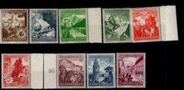 Deutsches Reich 675 - 683 Winterhilfswerl Landschaften MNH Postfrisch ** Neuf - Deutschland