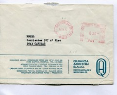"""ARGENTINA COMMERCIAL COVER - CIRCULATED FROM BUENOS AIRES TO """"ENTEL"""" CAPITAL FEDERAL. YEAR 1977 FRANQUEO MECANICO -LILHU - Storia Postale"""