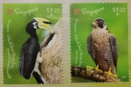 Singapore 2019 Joint Issue With Poland, Birds, Oriental Pied Hornbill, Peregrine Falcon MNH - Emissioni Congiunte