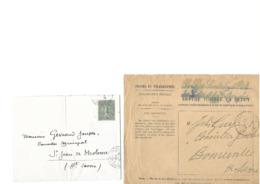 Lettre Tombée En Rebut Avec Le 15c Semeuse Lignée, Obl Divers Cachets Plus Correspondance à Voir. Bien - 1903-60 Semeuse A Righe