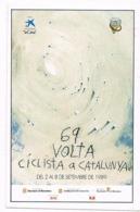 Viñeta Autoadhesiva 69 VOLTA Ciclista Catalunya 1989. Sin Dentar ** - Errors & Oddities