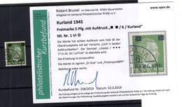 Kurland 1VI ABART Gest. BPP BEFUND 300EUR (B6669 - Bezetting 1938-45
