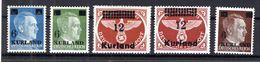 Kurland 1/4A+B LUXUS ** POSTFRISCH (B6926 - Besetzungen 1938-45