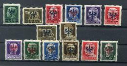 Laibach Ex 1/15 Vierzehn Werte ** POSTFRISCH 40EUR (77281 - Besetzungen 1938-45