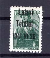 Litauen TELSCHEN 3III Tadellos ** POSTFRISCH 18EUR (B4975 - Bezetting 1938-45