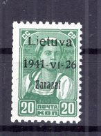Litauen ZARASAI 4aI Tadellos ** POSTFRISCH 25EUR (77064 - Besetzungen 1938-45