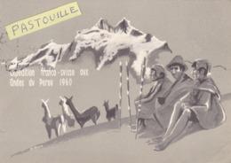 CPSM.  15 X 10,5  -    Expédition Franco - Suisse  Aux Andes  Du  Pérou  1960 - Chamonix-Mont-Blanc