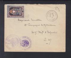 France Lettre Dannemarie Alsace 1917 - Poststempel (Briefe)