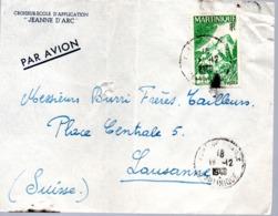 CROISEUR JEANNE D'ARC Escale En Martinique Obl. Fort De France ??/12/48 (enveloppe Froisée) - Postmark Collection (Covers)