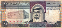 "SAUDI ARABIA 10 RIYALS 1983 F P-23b ""free Shipping Via Regular Air Mail (buyer Risk)"" - Saoedi-Arabië"
