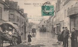 NEMOURS CRUE DU 20 JANVIER 1910 PLACE AU BLE - Nemours