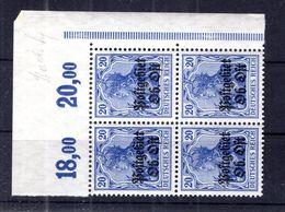 Ober-Ost 8b POR ECKRAND-VIERERBLOCK ** POSTFRISCH 63EUR (B8279 - Bezetting 1914-18