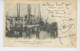 """BATEAUX - LA PALLICE ROCHELLE - Embarquement Des Passagers à Bord Du Steamer """"ORELLANA """" - Paquebots"""