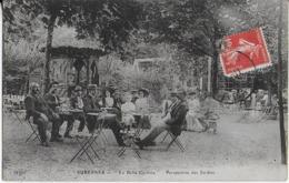 """SURESNES  : """" La Belle Cycliste """" -  Perspective Des Jardins-  Bien Animée - 1908 - Suresnes"""