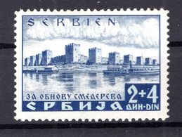 Serbien 49 PFI SELTENE ABART * MH 300EUR (B7494 - Bezetting 1938-45