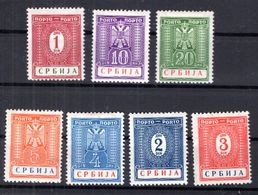 Serbien PORTO 9/15 SATZ ** POSTFRISCH (B2608 - Bezetting 1938-45
