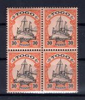 Togo 12 VIERERBLOCK ** POSTFRISCH (B6092 - Kolonie: Togo