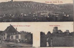 Gruss Aus Leimen O. Els., Geschr. Ung 1910 / Belebte Karte, Bfm Germania 5 Grün - Leimen