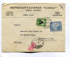 COLOMBIA COMMERCIAL COVER - CIRCULATED FROM BOGOTA TO MADISON AVENUE, NEW YORK, U.S.A.. YEAR 1951 AIR MAIL -LILHU - Colombia
