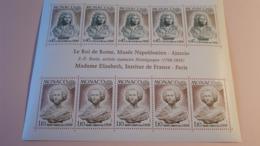 """Monaco Bloc YT 9 """" Europa : Roi De Rome Et MMe Elisabeth """" 1974 Neuf   Superbe état - Monaco"""