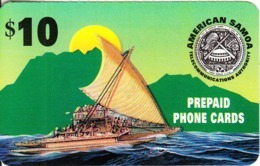 AMERICAN SAMOA(GPT) - Boat, ASTCA Prepaid Card, First Issue $10, Used - Samoa Américaine