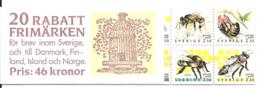 Sweden 1990 Discount Stamps, Bees, Mi  1609-1618 In Booklet MH 151, MNH(**) - Schweden
