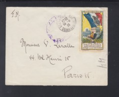 France Lettre Tresor Et Postes 1915 Pro Patria - Poststempel (Briefe)