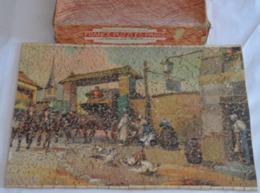 Véritable Puzzle En Bois Par FRANCE PUZZLES PARIS Env 500 Piéces Format 32x25 Dans Sa Boite D'origine état D'usage - Puzzles