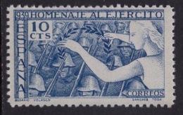 España 1938. Homenaje Al Ejercito. Ed 887. MNH. **. - 1931-50 Nuevos & Fijasellos