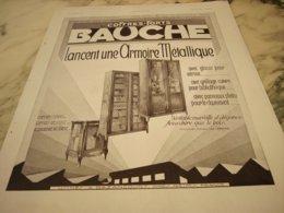 ANCIENNE PUBLICITE COFFRE FORT BAUCHE 1931 - Non Classificati