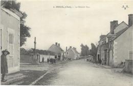 18 - INEUIL (Cher) - La Grande Rue. Animée, Circulé En 1916. BE. - Otros Municipios