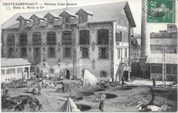37 -  CHATEAURENAULT - Intérieur D'une Tannerie - Usine L. Noiré Et Cie - Circulé 1908 - B.E. - Andere Gemeenten