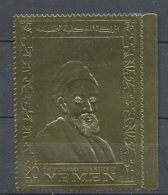 330 Yemen Royaume (kingdom) - N°716A Rembrandt Tableau (tableaux Painting) OR Gold Stamps - Yemen