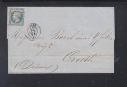 France Lettre 1854 Le Mans - Poststempel (Briefe)