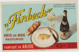 Etiquette Fromage Camembert : Finbeck , Anjou  Pré Avrin  A Maulévrier - Fromage