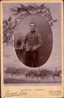 CDV, Militaire, 13e Regiment De Chasseurs A Cheval, Photo Jacquin Valence Drome     (bon Etat)  Grand Format. - Krieg, Militär