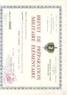 """"""" BREVET DE PREPARATION MILITAIRE ELEMENTAIRE """" A Mr BOUTON . De """" ENTENTE SPORTIVE ET CHEMINOTS DE DOLE . 24-6-1957 - Dokumente"""
