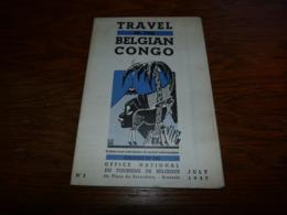 Travel In The Belgian Congo 1937 Carte Géographique Routes Chemin De Fer Aéroport Etc Etc - Dépliants Touristiques