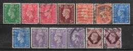 1941-1947 GREAT BRITAIN Set Of 13 Used Stamps (Scott # 258-263,266) CV $14.60 - 1902-1951 (Könige)