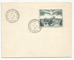 UPU 500FR PA LETTRE COVER CONGRES POSTAL UNIVERSEL 7.5.1947 SUPERBE - Marcofilia (sobres)