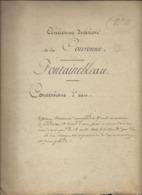 Liste Des Concessions Accordées Sur Les Aqueducs Qui Alimentent Le Château De Fontainebleau (voir Description) - Historical Documents