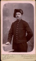 CDV, Militaire, 1e Regiment De Chasseur, Photo Léon Grenoble      (bon Etat) - Guerra, Militares