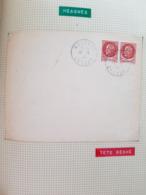 Rare ! 2 Lettres Libération Measnes 17 Et 18/8/44 Avec 2 Timbres 1f50 Dont Un Surcharge Renversée Et 1 Timbre - Liberation