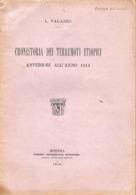 CRONISTORIA DEI TERREMOTI ETIOPICI EARTHQUAKE TREMBLEMENT DE TERRE 1915 COLONIE MODENA SOCIETA TIPOGRAFICA MODENESE - Matematica E Fisica