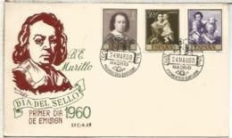 MADRID SPD 1950 UN SOBRE ARTE PINTURA MURILLO - Arte